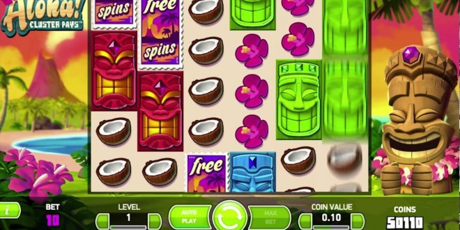 NetEnt Casino Videoslot: Aloha Cluster Pays